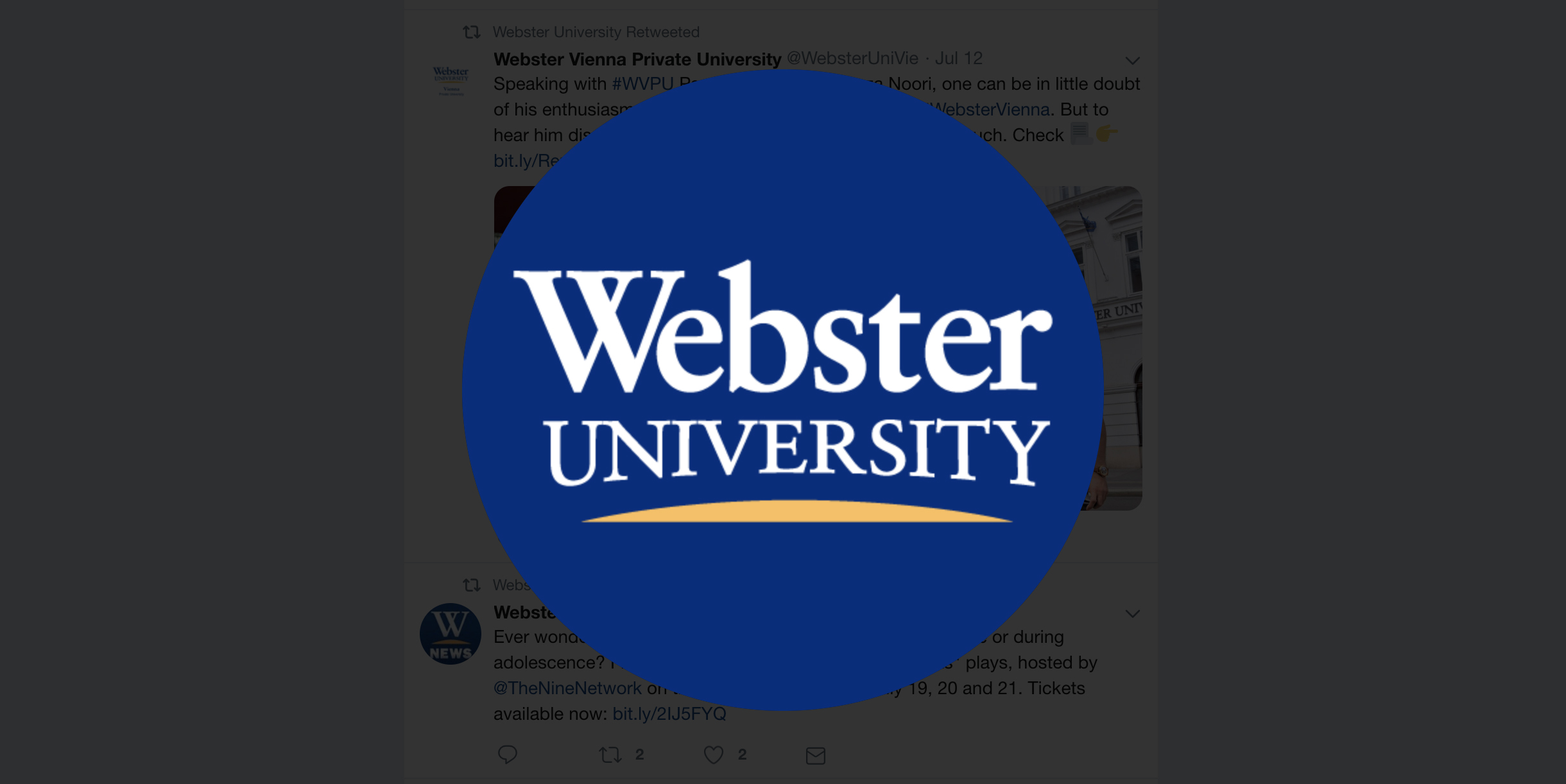 New Partnership with Webster University